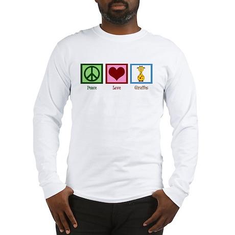 Peace Love Giraffes Long Sleeve T-Shirt