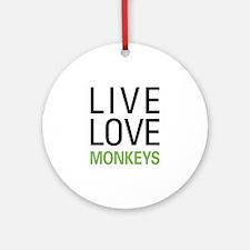 Live Love Monkeys Ornament (Round)