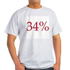 34% Ash Grey T-Shirt