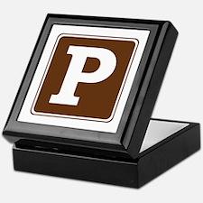 Parking Sign Keepsake Box