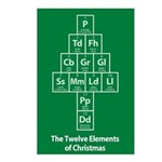 12 Elements of Christmas Postcards (8pk) - Green