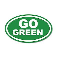 Go Green Euro 20x12 Oval Wall Peel