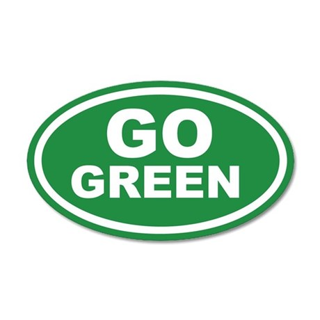 Go Green Euro 35x21 Oval Wall Peel