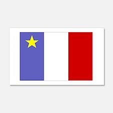 Acadian Flag 20x12 Wall Peel
