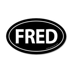 Fred 2008 Traditional Sticker -Black (Oval)