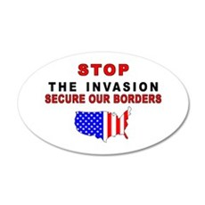 Stop The Invasion 35x21 Oval Wall Peel