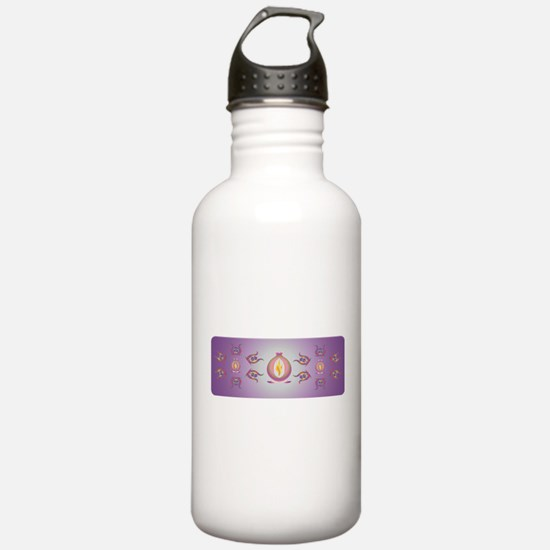 Aurora mandala Water Bottle