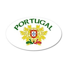 Portugal Coat of Arms 20x12 Oval Wall Peel