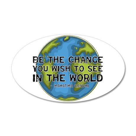 Gandhi - Earth - Change 35x21 Oval Wall Peel