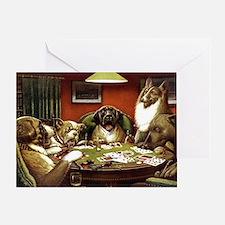 Waterloo Dog Poker Greeting Cards