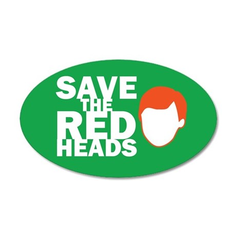 Save the Redheads 35x21 Oval Wall Peel