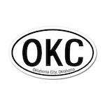 Oklahoma City, Oklahoma 35x21 Oval Wall Peel