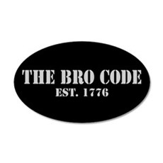 20x12 Oval Wall Peel Bro Code