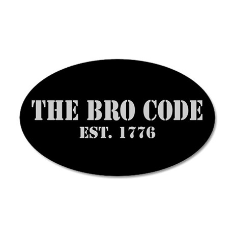 35x21 Oval Wall Peel Bro Code