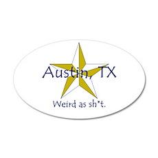 Austin is Weird 20x12 Oval Wall Peel