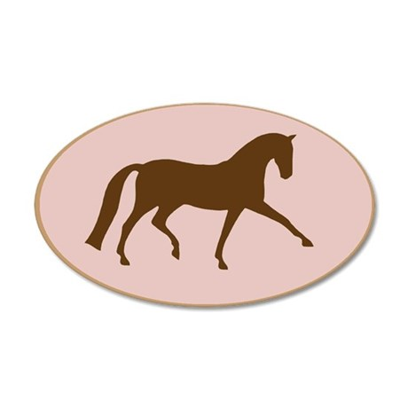 dressage horse 20x12 Oval Wall Peel