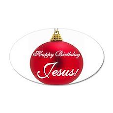 Happy Birthday Jesus 20x12 Oval Wall Peel