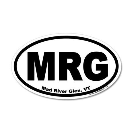 """Mad River Glen, Vermont """"MRG"""" Oval 35x21 Oval Wall"""