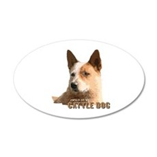 Cattle Dog 20x12 Oval Wall Peel