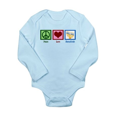 Peace Love Hanukkah Long Sleeve Infant Bodysuit