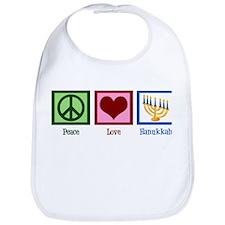 Peace Love Hanukkah Bib