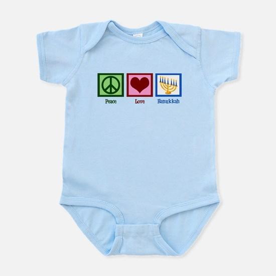 Peace Love Hanukkah Infant Bodysuit