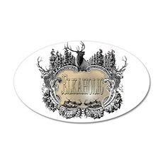 elkaholic elk logo 20x12 Oval Wall Peel