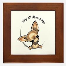 Tan Chihuahua IAAM Framed Tile