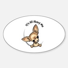 Tan Chihuahua IAAM Sticker (Oval)