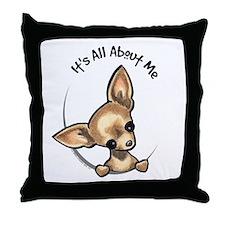 Tan Chihuahua IAAM Throw Pillow
