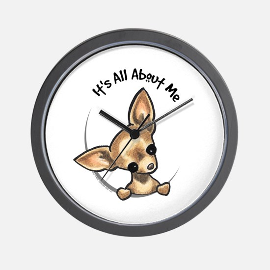 Tan Chihuahua IAAM Wall Clock