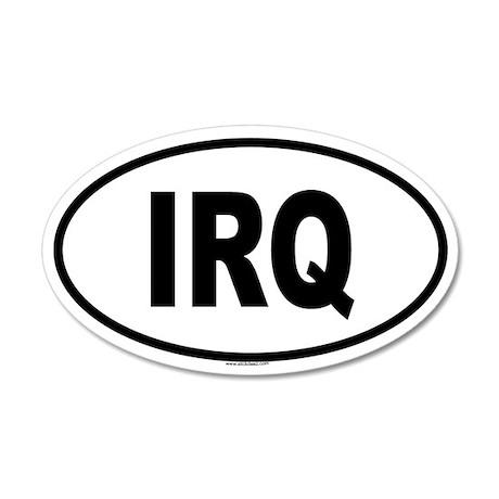 IRQ 35x21 Oval Wall Peel