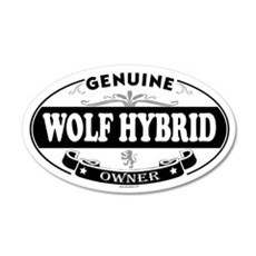 WOLF HYBRID 20x12 Oval Wall Peel