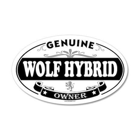 WOLF HYBRID 35x21 Oval Wall Peel