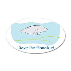 Save the Manatee! 20x12 Oval Wall Peel