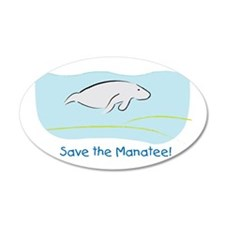 Save the Manatee! 35x21 Oval Wall Peel