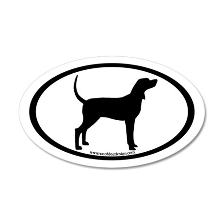 Coonhound #2 Oval 20x12 Oval Wall Peel
