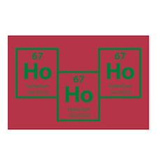 Ho Ho Ho Holmium Christmas Postcards (8pk) - Red