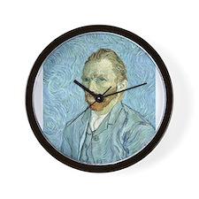 Funny Self portraits Wall Clock