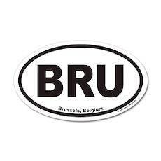 Brussels Belgium BRU Euro 20x12 Oval Wall Peel