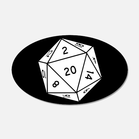 D20 Dice Wall Decal