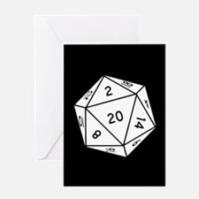 D20 Dice Greeting Cards