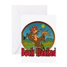 BUCK NECKED Greeting Card