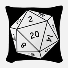 D20 Dice Woven Throw Pillow