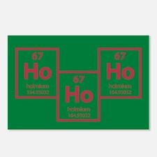 Ho Ho Ho Holmium Christmas Postcards (8pk) - Green