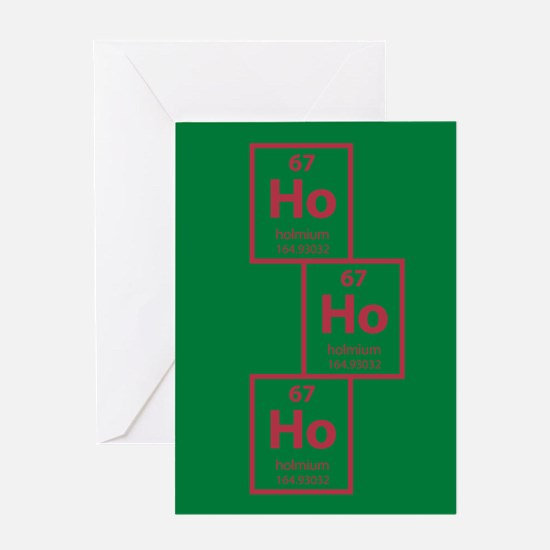 Ho Ho Ho Holmium Christmas Card - Green