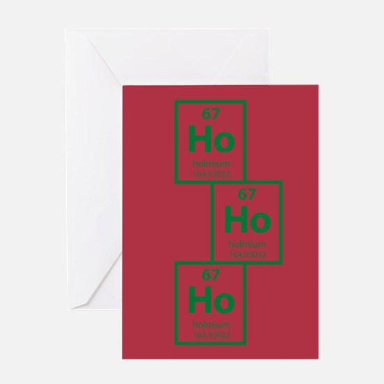 Ho Ho Ho Homium Christmas Card - Red