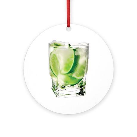 Vodka Lime Ornament (Round)
