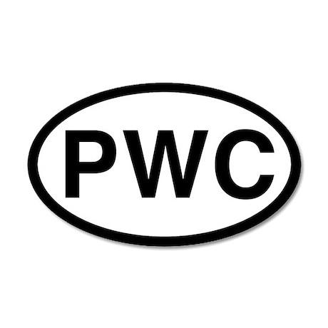 PWC (Pembroke Welsh Corgi) 20x12 Oval Wall Peel