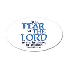 Fear of the Lord 20x12 Oval Wall Peel